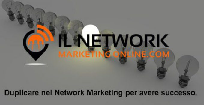 duplicare nel network marketing