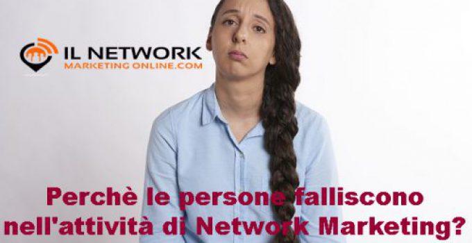 persone falliscono nell'attività di Network Marketing
