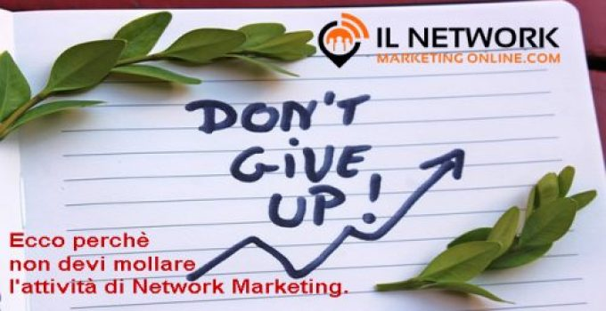 mollare l'attività di Network Marketing