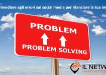errori sui social media