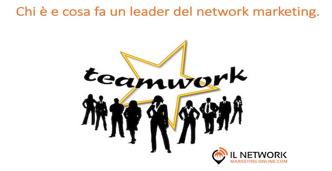 leader del network marketing